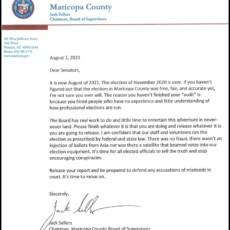 "Maricopa County Board of Supervisors Responds To Arizona Senate Subpoena – Go Spit, ""It's Time to Move On"""
