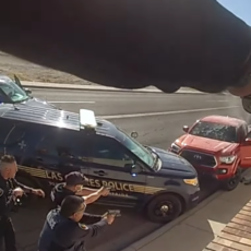 WATCH: Video Shows INSANE Police Shooting After Car Chase In New Mexico; The Driver Somehow Survived