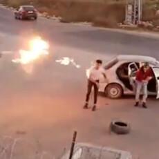Hotdog Palestinian Roasts Himself With Molotov [Video]