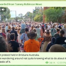 Silent Protest in Brisbane, Australia