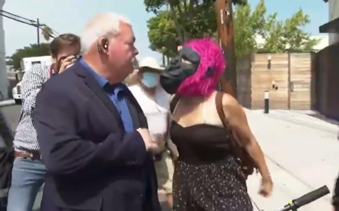 WILD VIDEO: Larry Elder Accosted By Gorilla Mask-Wearing Leftist In Los Angeles