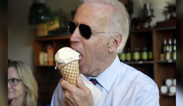 joe biden eats ice cream presidential campaign 2020