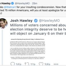 After Walmart Twitter Account Attacks GOP Sen. Josh Hawley, #BoycottWalmart Trends On Twitter