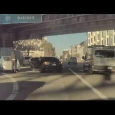 Brazen highway robbery caught on Tesla Cam…