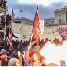 BREAKING HORROR FOOTAGE: Capitol Police Fired Explosive Flash Grenade Right Into The Crowd Where There Are Children!