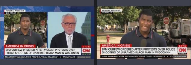 CNN chyron changed from