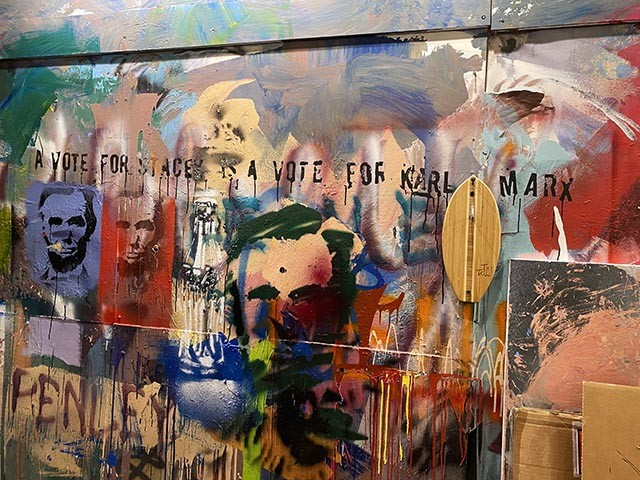 a wall at Penley Art Company
