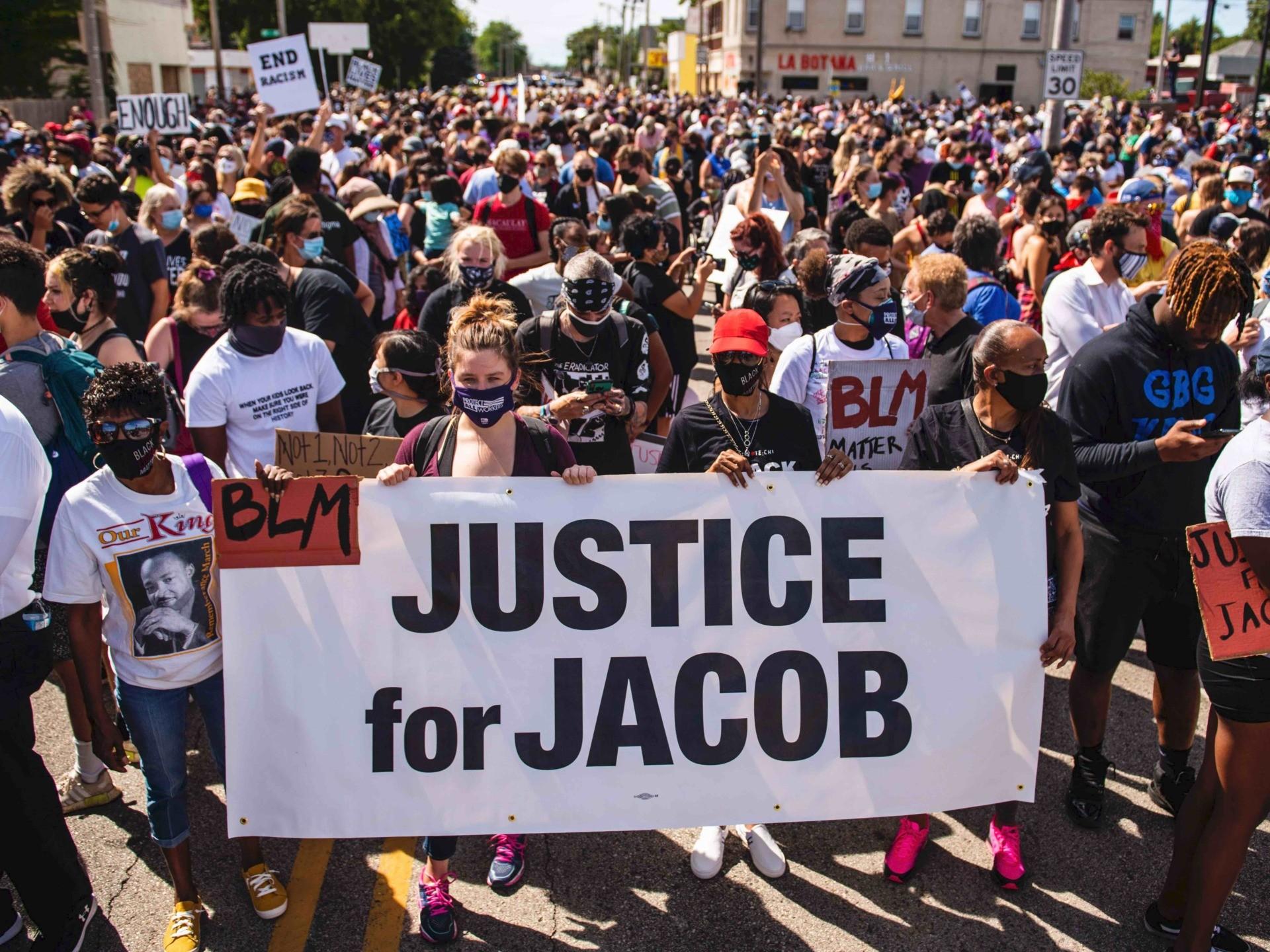 Justice for Jacob rally Kenosha (Stephen Maturen / AFP / Getty)