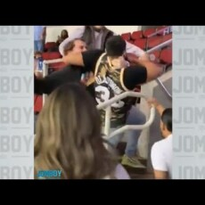 Fans brawl at Rockets Spurs game… Hilarious play by play…