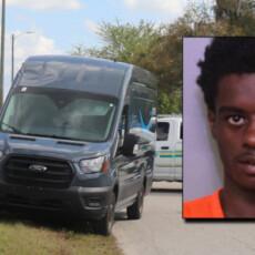 Florida man on probation accused of carjacking Amazon delivery van, entering stranger's bathroom