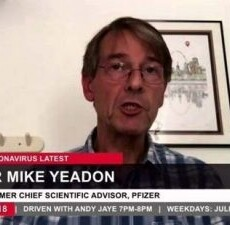 Former Pfizer Vice-President Dr. Michael Yeadon Questions Company's Vaccine 'Breakthrough' Spin