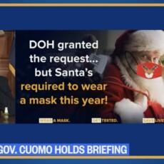 Gov. Cuomo: Santa granted quarantine waiver, but still has to wear mask
