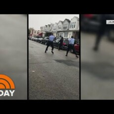 Here's video of the police shooting in Philly…