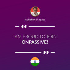I AM PROUD TO JOIN ONPASSIVE!