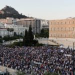 In Athens, thousands rally against COVID-19 vaccinations