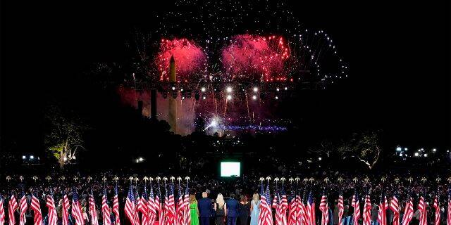 Fireworks at the end of the RNC