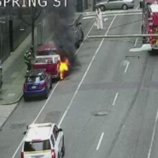 Man Arrested After Making Bomb Threat, Setting Car on Fire Near FBI Building In Seattle