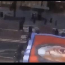 Media Hides Giant Anti-Pelosi Flag in NYC