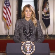 Melania Trump delivers her farewell address