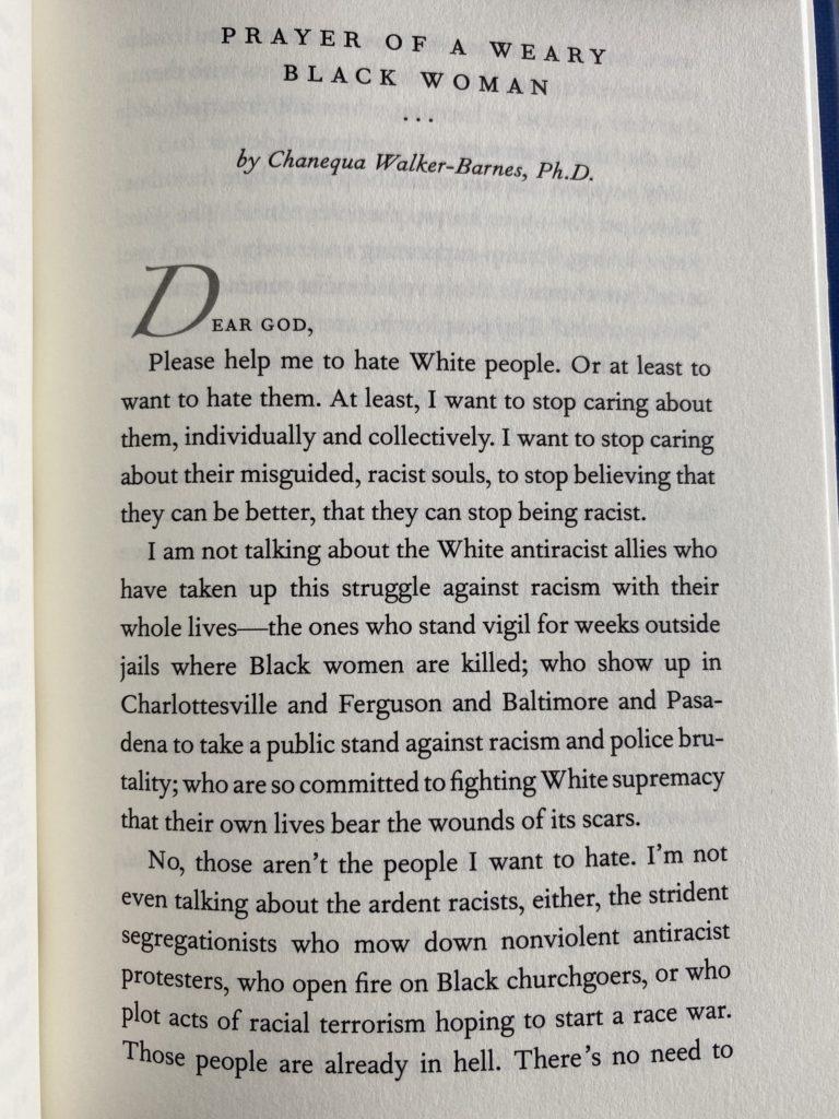 racist prayer in book