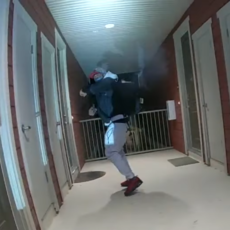 NEW: Body cam video shows armed Calif. man retreat up stairs, point gun at police before being killed