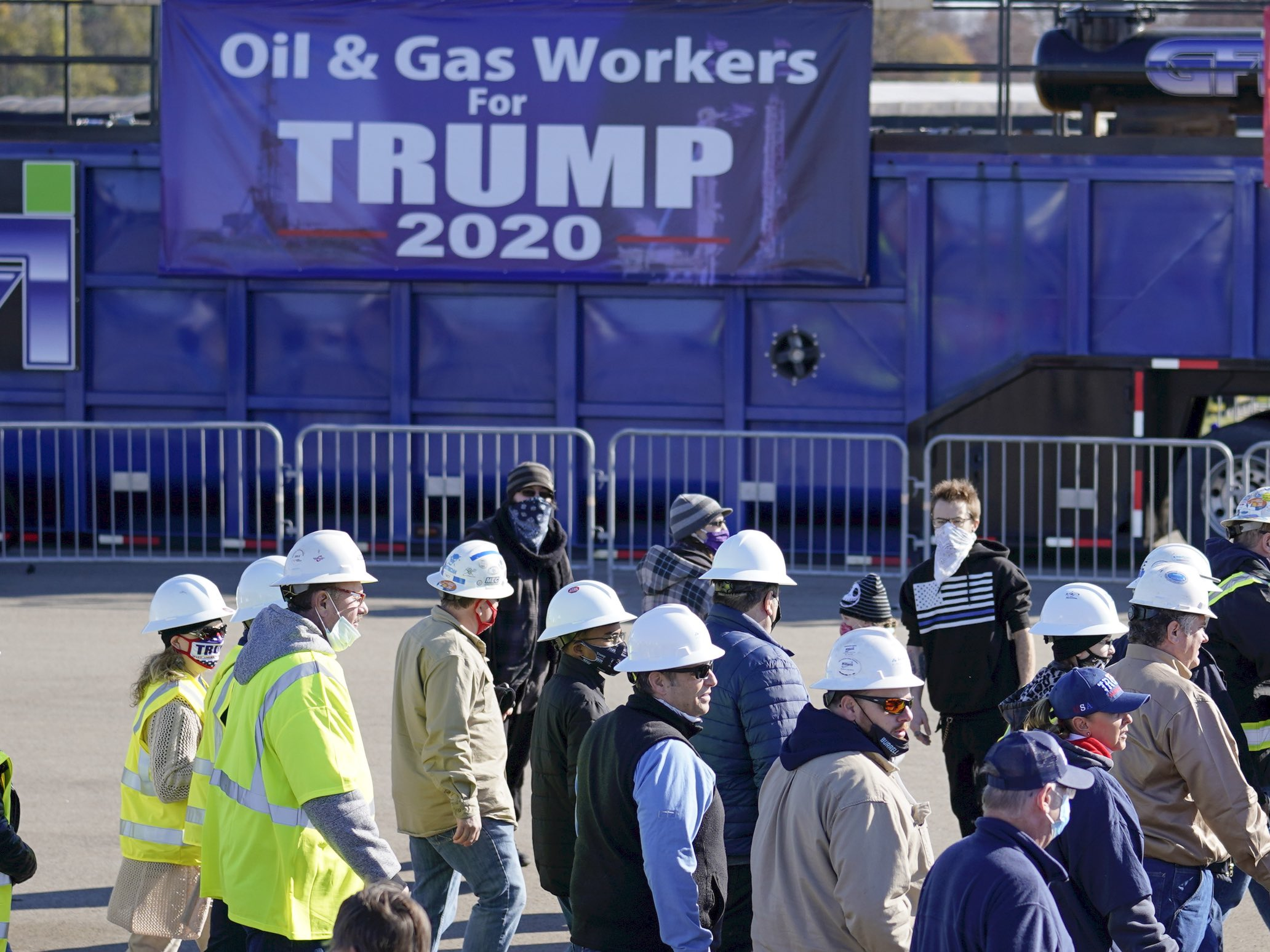 Oil and Gas Workers for Trump (Keith Srakocic / Associated Press)
