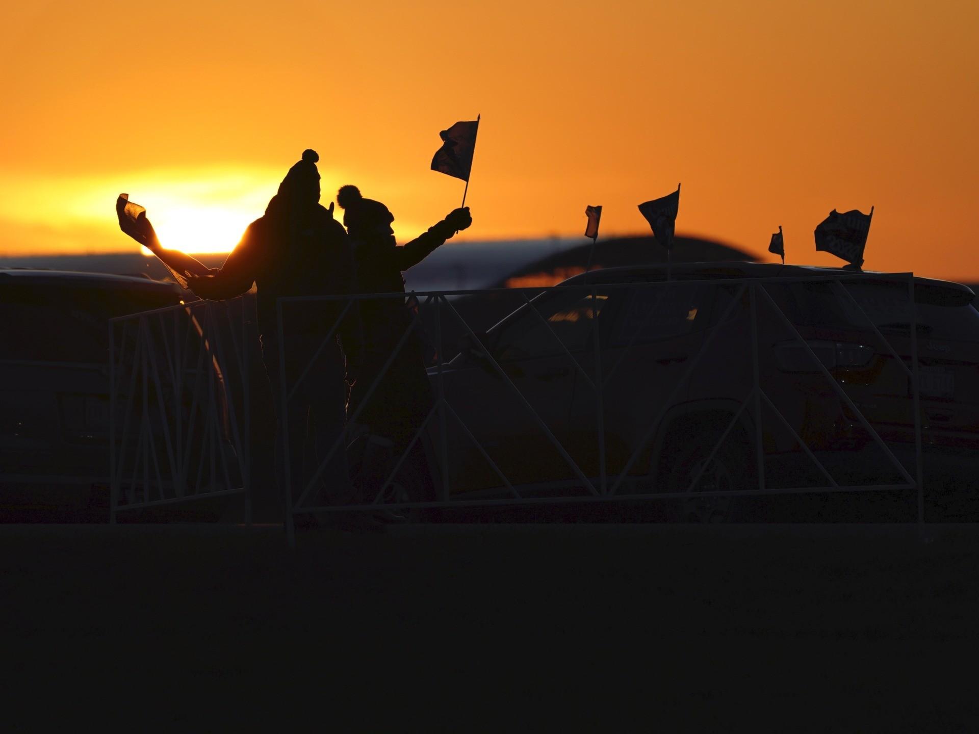 Sunset Grand Rapids (Carlos Osorio / Associated Press)