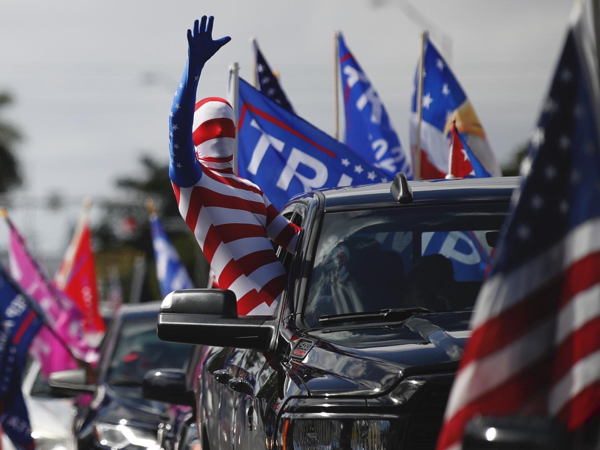 Trump caravan Miami (Rebecca Blackwell / Associated Press)