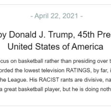 """President Trump Responds to LeBron James """"He May Be A Good Basketball Player, But""""…"""