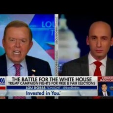 Raucous highlight from Lou Dobbs and Stephen Miller…