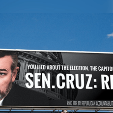Republican Group Targets GOP Lawmakers in Billboard Campaign Urging Them to Resign