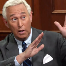 Roger Stone fires up the crowd…
