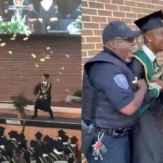 SEE IT! Graduating rapper escorted from ceremony after throwing thousands of dollars in the air