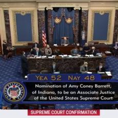 Senate Confirms Judge Amy Coney Barrett To Nation's Highest Court