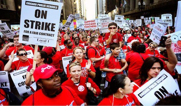chicago teachers union COVID strike