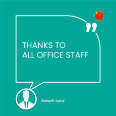 THANKS TO ALL OFFICE STAFF