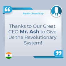 Thanks to Our Great CEO Mr. Ash to Give Us the Revolutionary System!