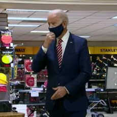 Vaccinated President Joe Biden Undermines Vaccine Efficacy With Double Mask Inside Small Business