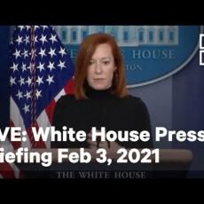 Watch Live — Circle Backs fluffs compliant press corps…
