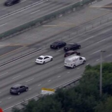 WATCH: Mercedes driver leading police chase in Miami GETS AWAY!