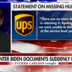 WATCH: Tucker Carlson Gives An Update On His Missing UPS Package