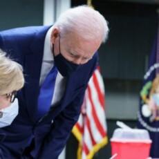 'We're Set' — Joe Biden Breaks Social Distancing Guidelines at Vaccine Center