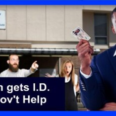 White Liberals Watch In Amazement As Black Man Acquires ID
